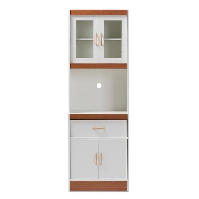 Laurana Kitchen Cabinet and Hutch - Baxton Studio