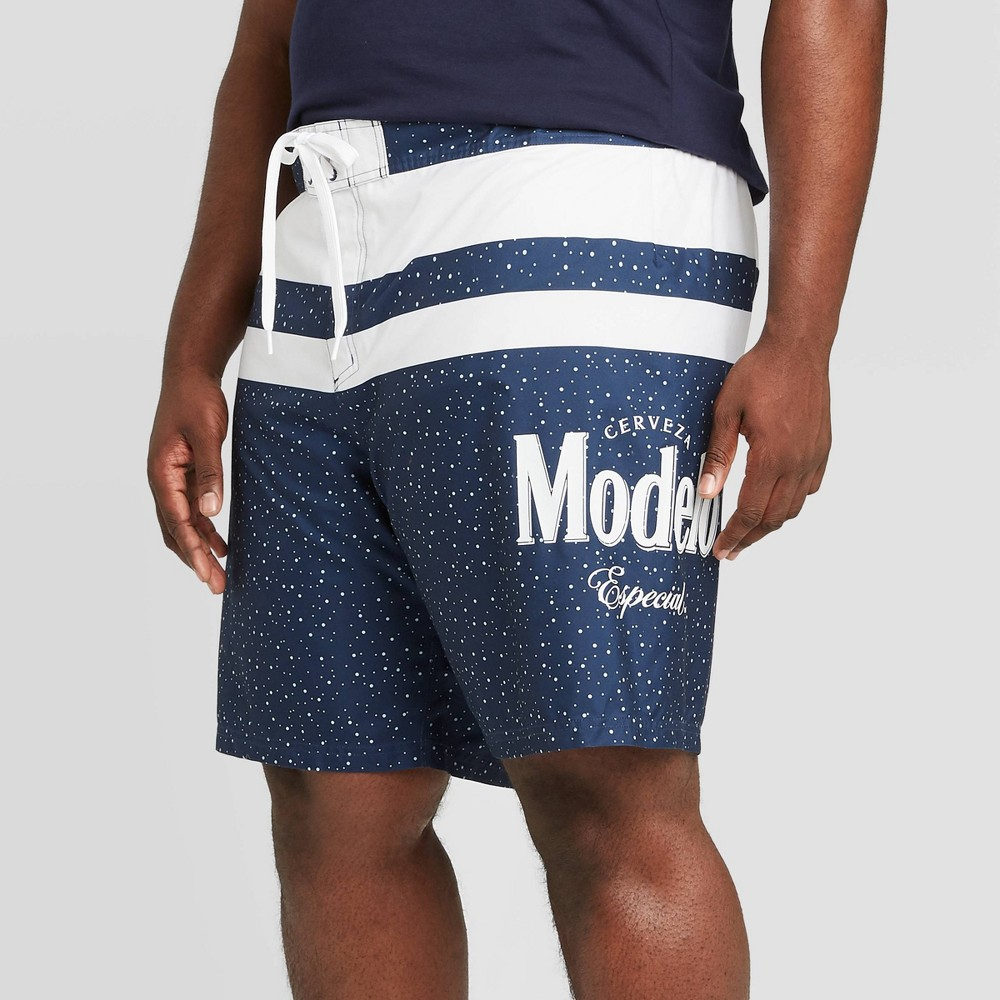 "Image of ""Men's Big & Tall 10"""" Modelo Board Shorts - Navy 4XB, Men's, Blue"""