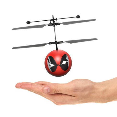 World Tech Toys Marvel X-Men Deadpool IR UFO Ball Helicopter - image 1 of 3