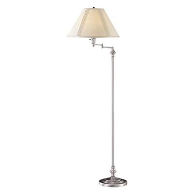 """59"""" 3-way Metal Swing Arm Floor Lamp Brushed Steel - Cal Lighting"""
