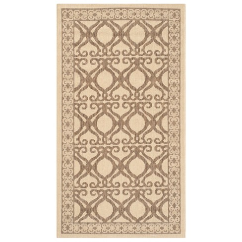 "Manisa Rectangle 2' X 3'7"" Patio Rug - Natural / Brown - Safavieh® - image 1 of 2"