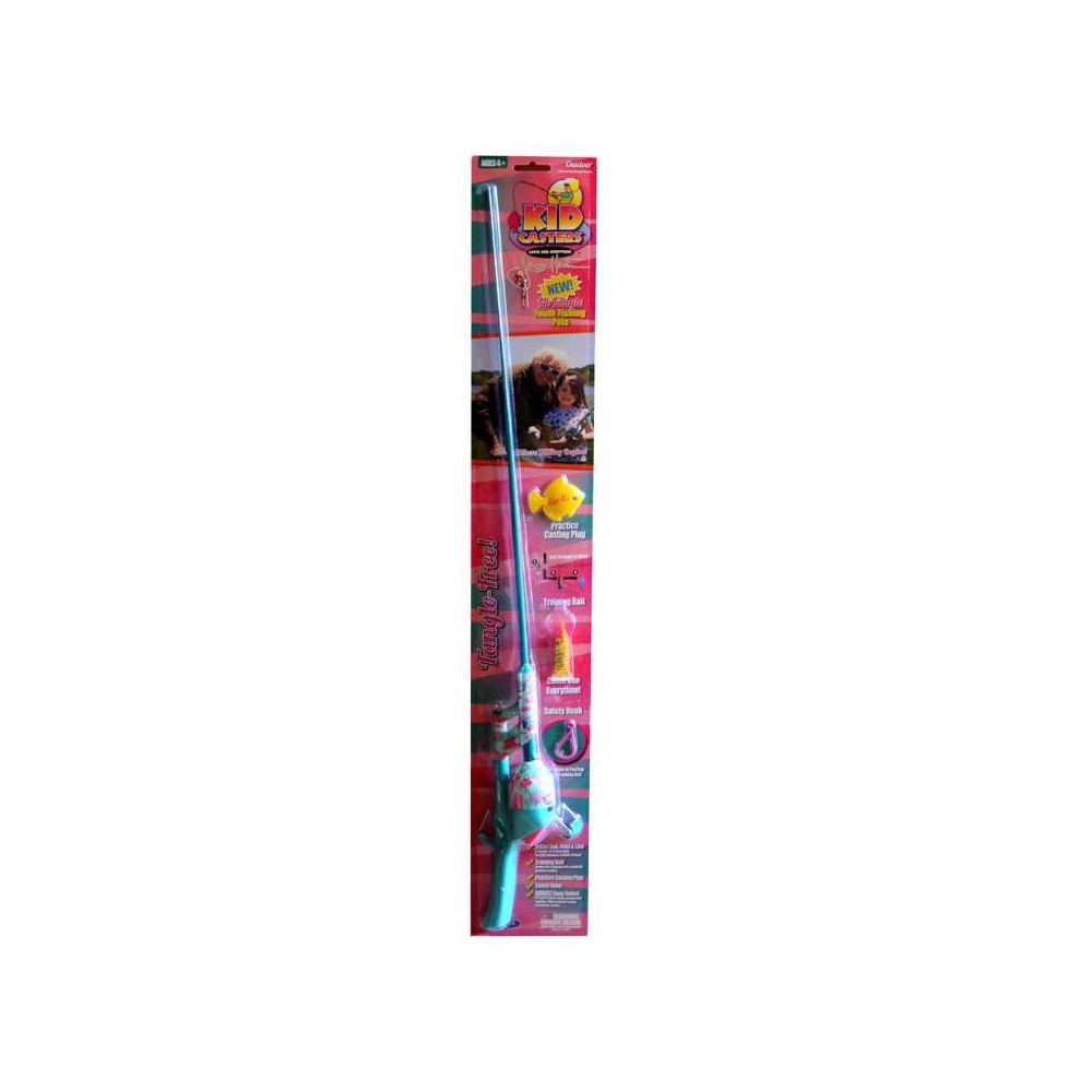 Image of Kid Casters Jimmy Houston No Tangle Fishing Rod - Pink, Pink Green