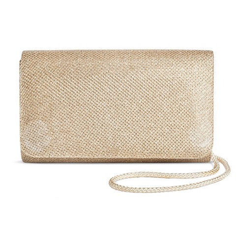 new images of cheap for sale huge sale Women's Shimmer Small Flap Clutch Handbag Gold - Tevolio™