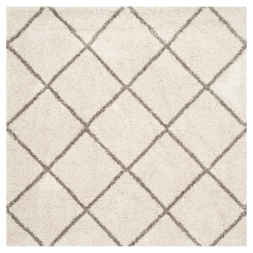 Hudson Shag Rug - Ivory/Gray - (9'X9' Square) - Safavieh