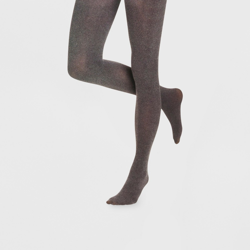 Image of Women's 40D Opaque Tights - Xhilaration Charcoal Heather L/XL, Size: Large/XL, Grey Grey