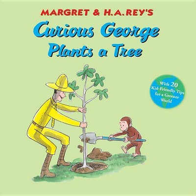 Curious George Plants a Tree - (Curious George 8x8)by H A Rey (Hardcover)