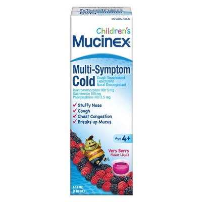 Children's Mucinex Multi-Symptom Cold - Very Berry - 4 fl oz