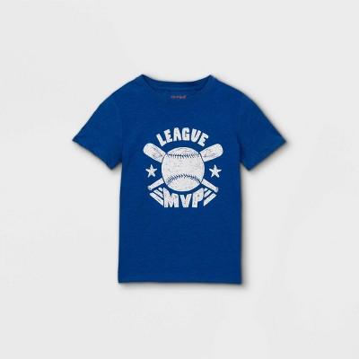 Boys' 'League MVP' Graphic Short Sleeve T-Shirt - Cat & Jack™ Blue
