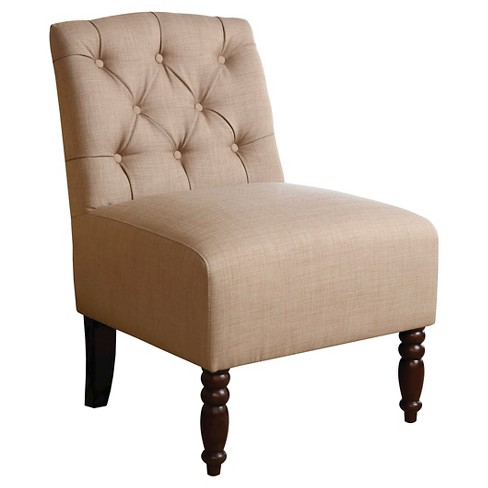 Edgewood Tufted Fabric Chair Beige- Abbyson Living - image 1 of 4