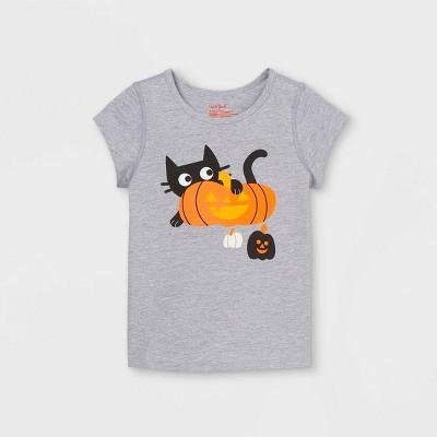 Toddler Girls' Adaptive Halloween Printed Short Sleeve Graphic T-Shirt - Cat & Jack™