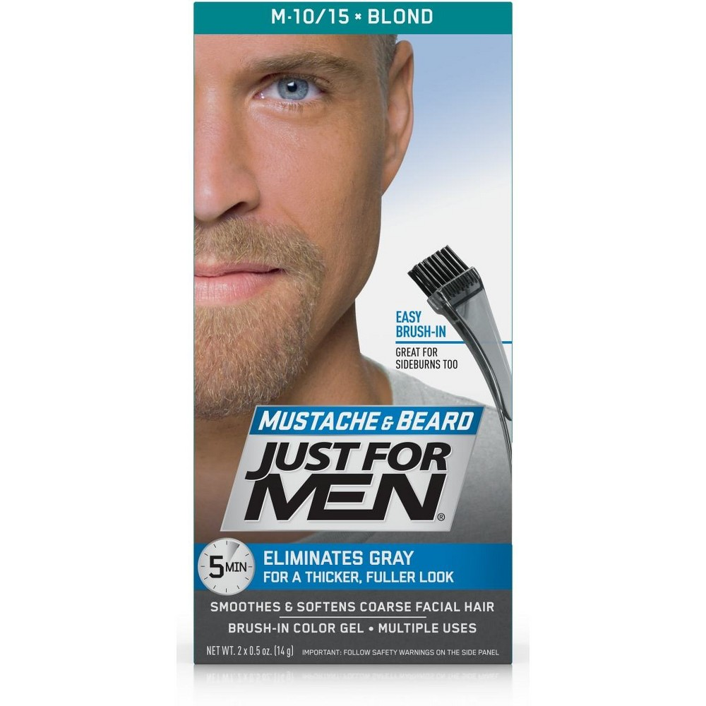 Image of Just For Men Mustache and Beard Blond M-10; M-15, Blond M-10/15