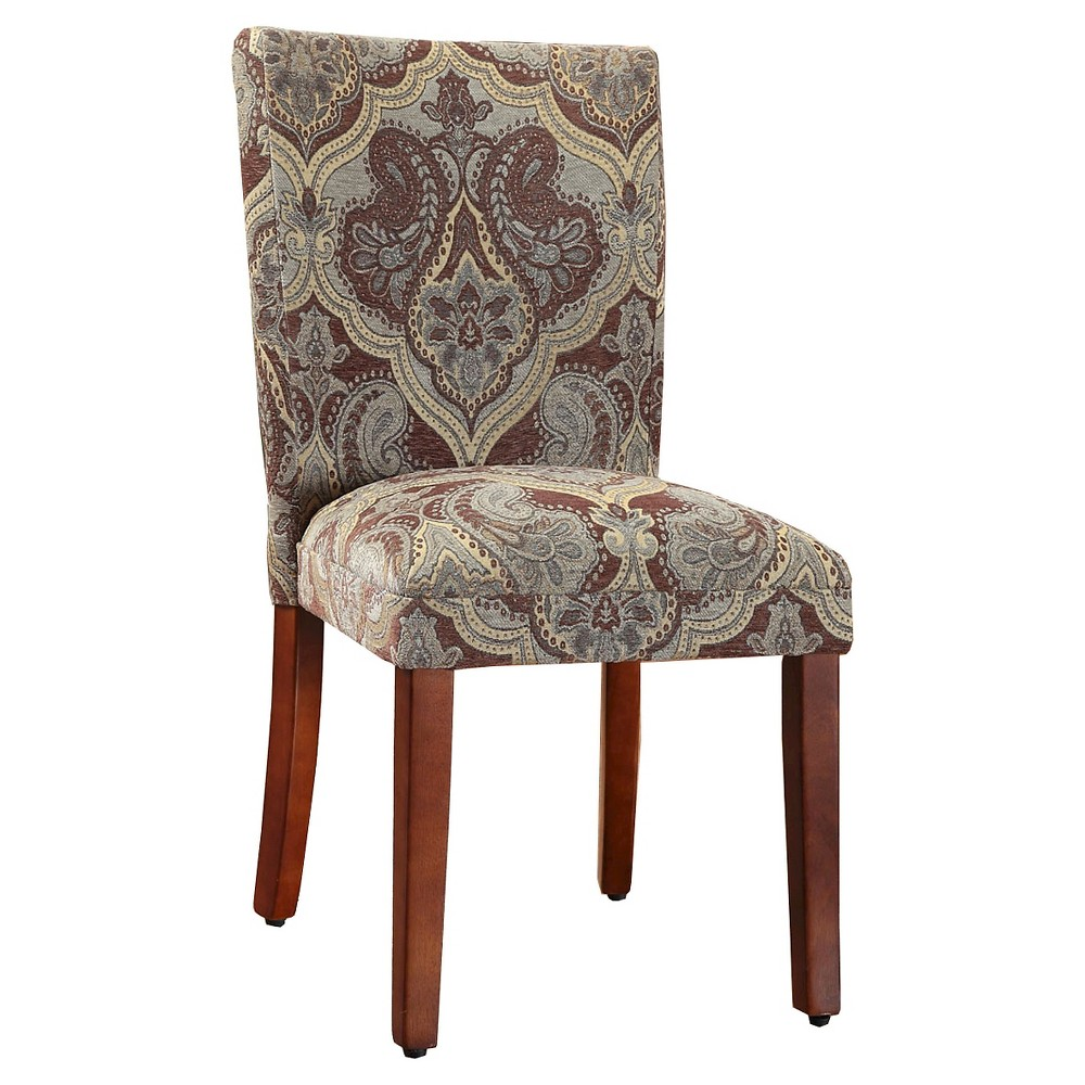Parsons Pattern Dining Chair Wood (Set of 2) - HomePop, Paisley