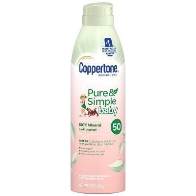 Coppertone Pure & Simple Baby Sunscreen Spray - SPF 50 - 5oz