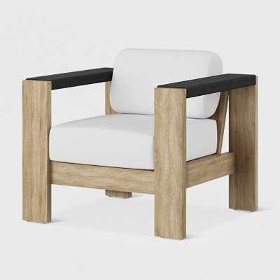 Montpelier Wood Patio Club Chair with Sunbrella Fabric - White - Smith & Hawken™
