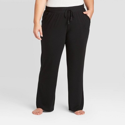 Women's Plus Size Beautifully Soft Pajama Pants - Stars Above™ Black 2X