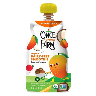 Once Upon a Farm Organic Coco for Mangoes Kids Dairy-Free Smoothie - 4oz