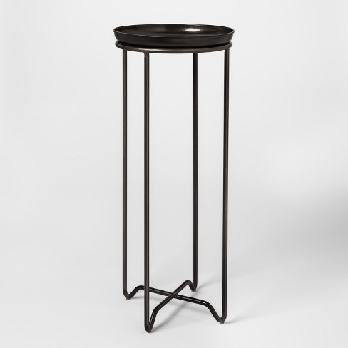 Metal Plant Stand With Galvanized Tray Tall Smith Hawken Target