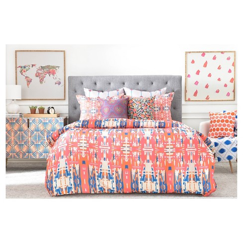 Holli Zollinger Marrakeh Abstract Duvet Cover Twin Extra Long Red Deny Designs