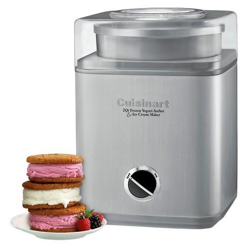 Cuisinart Pure Indulgence 2 Qt Ice Cream Maker Chrome Ice 30bc