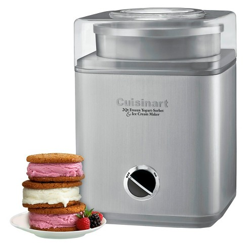 Cuisinart Pure Indulgence 2 Qt Ice Cream Maker Chrome Ice 30bc