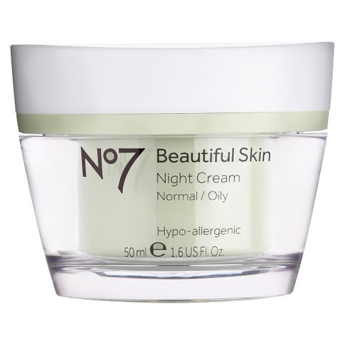 No7 Beautiful Skin Night Cream Normal/Oily - 1.6oz - image 1 of 2