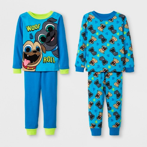 Toddler Boys Puppy Dog Pals 4pc Cotton Pajama Set Blue Target
