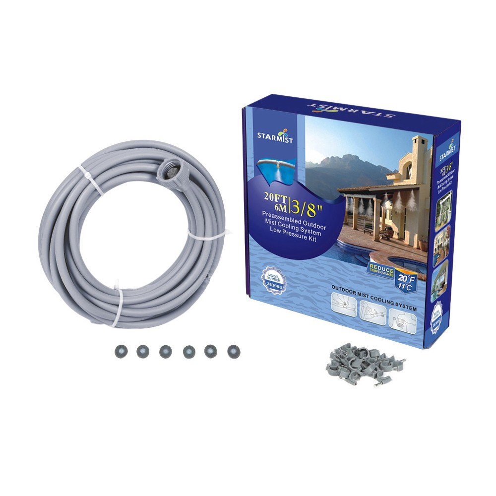 "Image of ""3/8"""" Preassembled Mist Cooling Kit, 20' - Gray - Sunneday"""