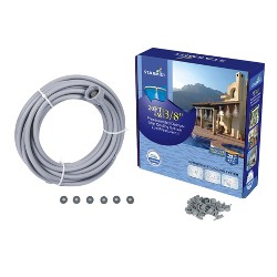 "3/8"" Preassembled Mist Cooling Kit, 20' - Gray - Sunneday"