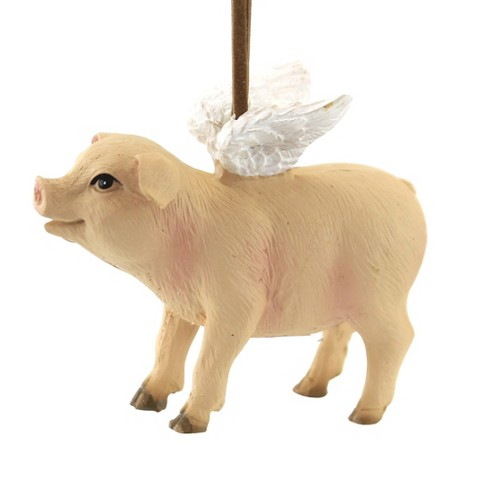 """Holiday Ornament 2.25"""" Flying Pig Christmas Wings  -  Tree Ornaments - image 1 of 3"""