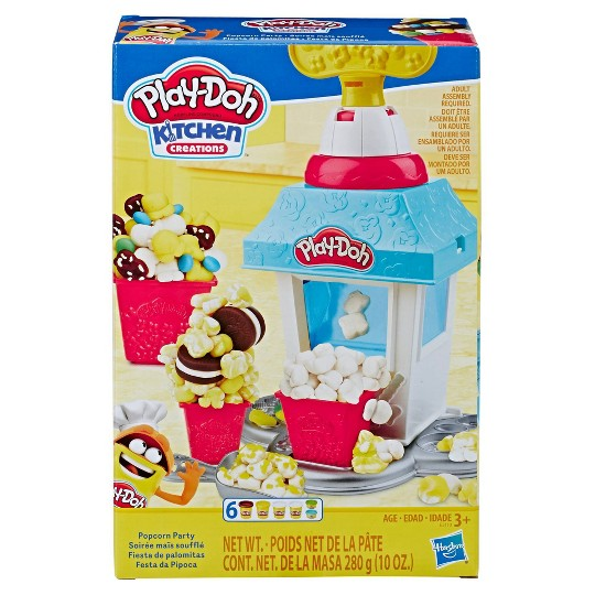 Play-Doh Kitchen Creations Popcorn Party Play Food Set with 6 Non-Toxic Play-Doh Cans image number null
