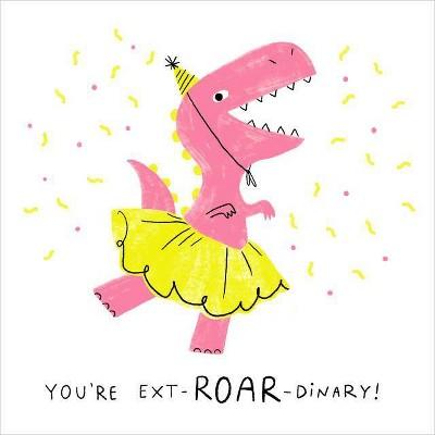 Cute Girl Dinosaur Birthday Card