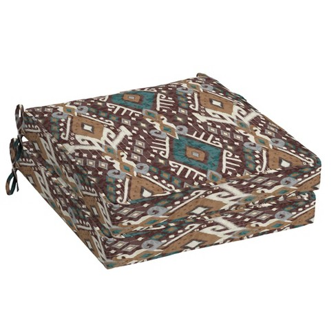 2pk Tenganan Single Welt Outdoor Seat Cushions - Arden Selections - image 1 of 2