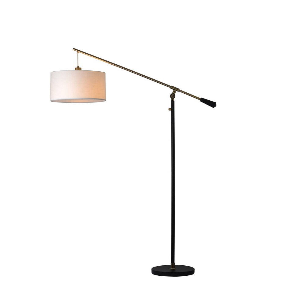Cantilever Drop Pendant Floor Lamp Includes Led Light Bulb Black Threshold 8482