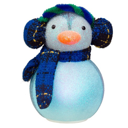 54bd9f6c5efec Philips Christmas USB Powered LED Glitter Penguin with Earmuffs and Scarf