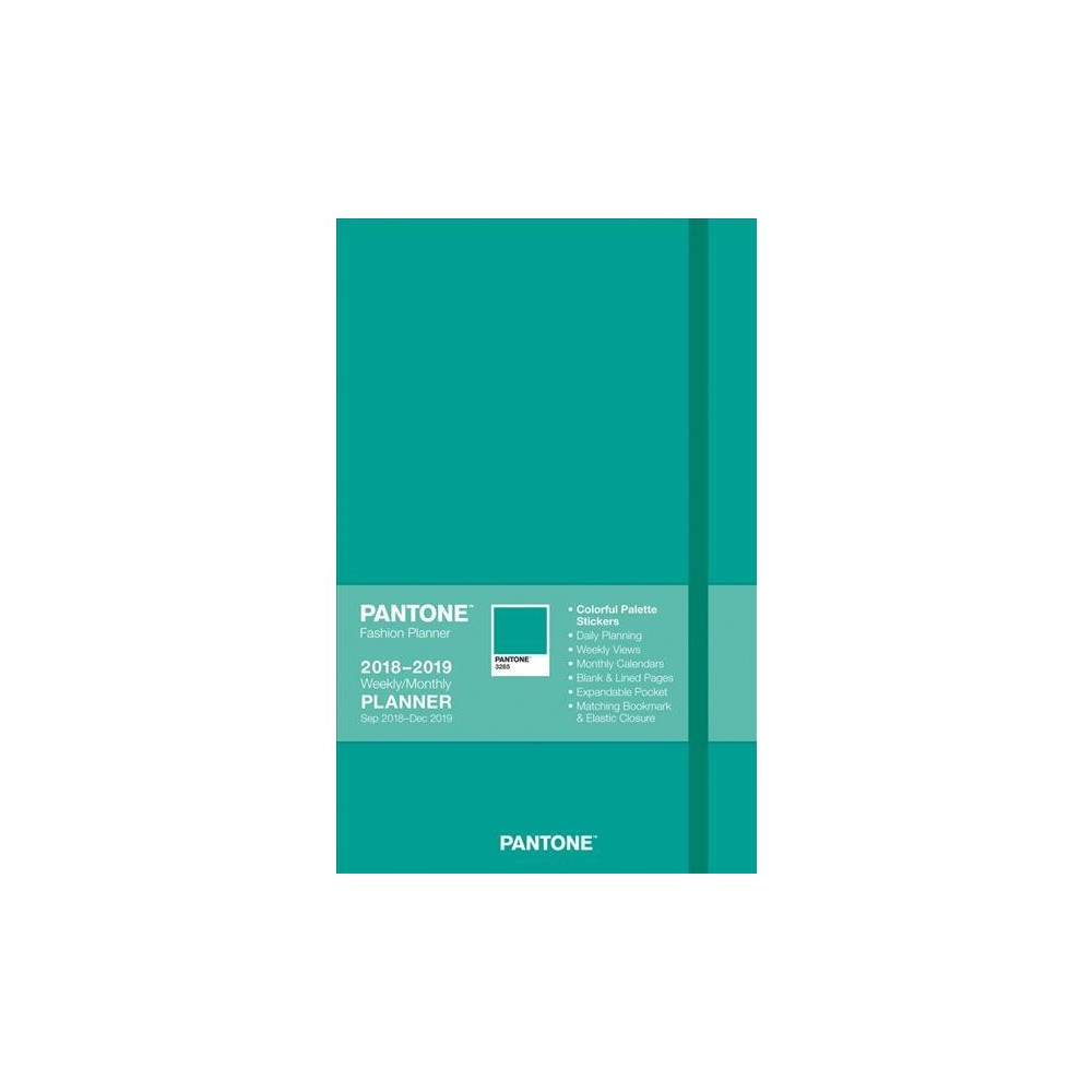 Pantone Island Aqua Compact Weekly/Monthly 2018-2019 Planner : Includes Stickers - (Hardcover)
