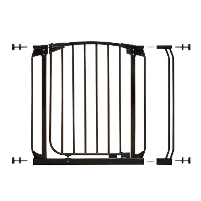 Dreambaby L798W Chelsea 28-35.5 Inch Wide Auto-Close Baby & Pet Wall to Wall Safety Gate w/ Stay Open Feature for Doors, Stairs, and Hallways, Black