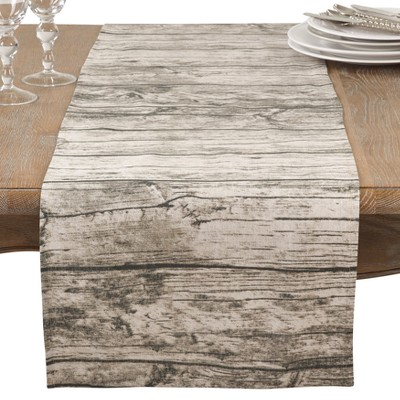 Natural Wood Grain Table Runner - Saro Lifestyle