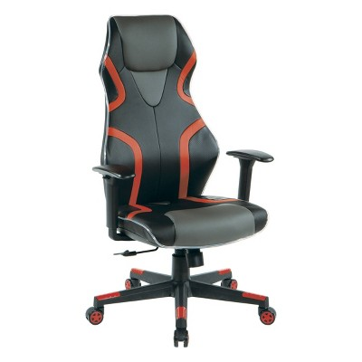 Rogue Faux Leather Gaming Chair - OSP Home Furnishings