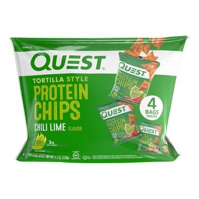 Quest Tortilla Style Protein Chips - Chili Lime - 4ct/4.5oz