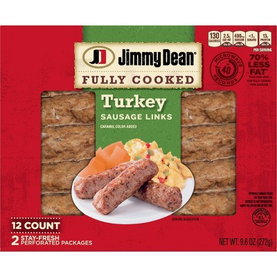 Jimmy Dean Fully Cooked Turkey Sausage Links - 9.6oz/12ct