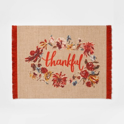 19 x14  Thankful Placemat Opal Beige - Threshold™