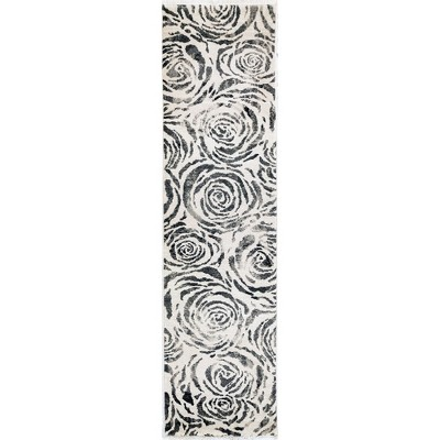 2'X8' Shapes Woven Runner Rug Charcoal Heather - Liora Manne