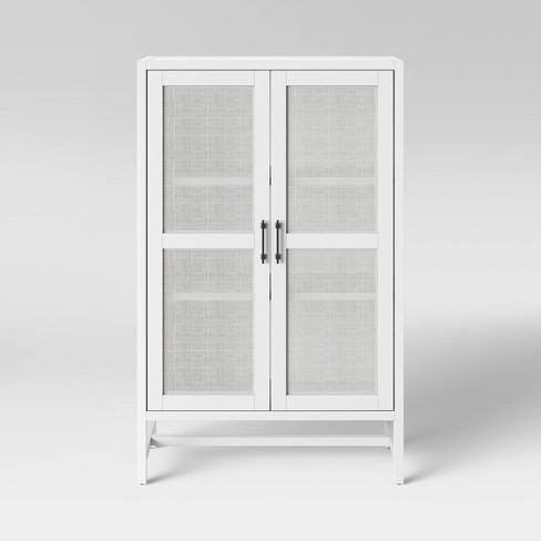 Warwick Wood & Rattan Library Cabinet - Threshold™ - image 1 of 4