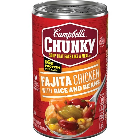 Campbell's® Chunky™ Fajita Chicken with Rice & Beans Soup 18.6 oz - image 1 of 5