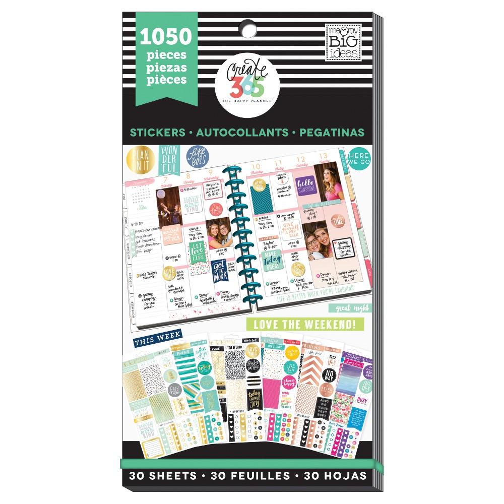 Me & My Big Ideas Planner Stickers 1050ct, This Week & Weekend
