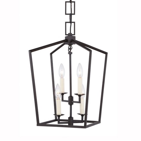 """Elegant Lighting 1512D12 Denmark Wide 4 Light 12"""" Wide Single Cage Style Taper Candle Pendant from the Urban Classic Collection - image 1 of 4"""