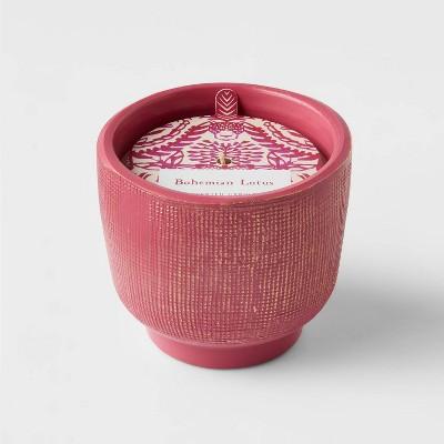 8.5oz Global Terracotta Jar Bohemian Lotus Candle - Opalhouse™