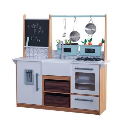Kidkraft Farmhouse Play Kitchen with 18 Piece Accessory Play Set