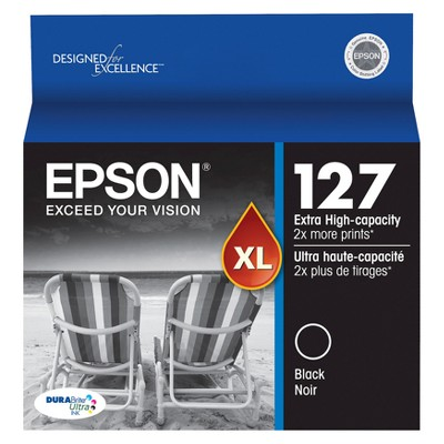 Epson 127 Single & 3pk Ink Cartridges - Black, Multicolor