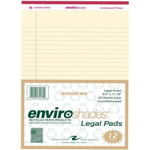 Enviroshades Legal Pad, 8-1/2 x 11 Inches, Ivory, 50 Sheets, pk of 12 - image 1 of 1